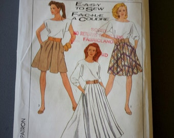 Simplicty Misses Skirt in Two Lengths and Culottes Pattern 8504 size  14