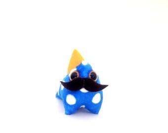 Hipster Mustache - Mustachioed  Plush DRAGONETTE (Small)