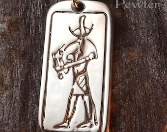 Thoth - Pewter Pendant - Ancient Egyptian God of the Scribes, Writing, History, Ibis, - Jewelry