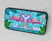 iPhone case, cover, iPhone 4/4s, iPhone 5/5s, iPhone 6, Flamingo Love Rubber iPhone case
