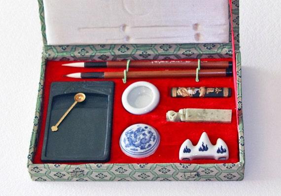 Chinese Calligraphy Set Oriental Sumi E Brush Painting Set