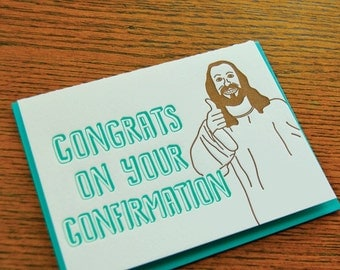 Thumbs Up Confirmation, Letterpress Card, Single