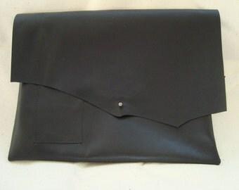 Black Leather Ipad Sleeve