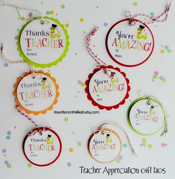 You Re Amazing Words: Teacher Appreciation Gift Tag / Teacher By ItsWrittenOnTheWall