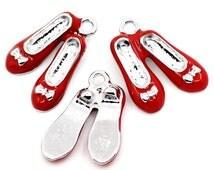 Ruby Slippers - Enamel Charm - Set of 2 (each pair is one charm) - #HK1134