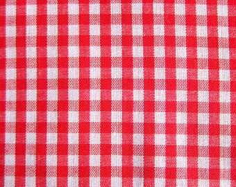Black Red Buffalo Plaid 100 Cotton Flannel Fabric 58