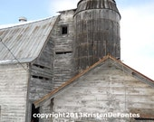 Barn and Silo Framed C-Print Photograph by Kristen DeFontes