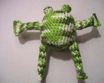 Amigurumi Frog Dog Toy