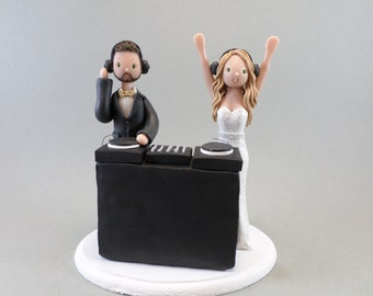 Wedding Cake Topper Custom Handmade DJ Theme