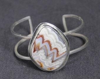 Laguna Lace Agate Cuff Bracelet