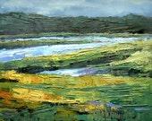 Marsh Giclee Print, Marsh Landscape Print, 8x10 Marsh Print, Carol Schiff Print