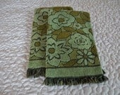 Sweet Olive and Sea Foam Green Pair of Hand Towels by Callaway