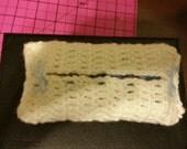 crochet tissue holder