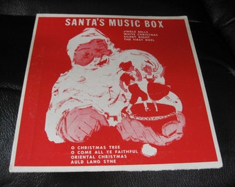 Vintage Santa's Music Box Record, 33 1/3 Record From 1956 in Santa Sleeve