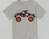 Monster Truck Boys Applique Shirt