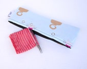 Stitch Holder Point Protector Zipper Pouch Needle Nook - DPN and Circular Project Holder - Sittin' Kitty