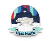 Head North Iron On Patch