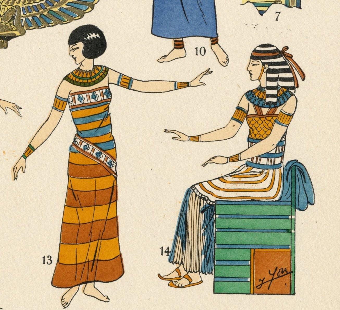 1925 french art deco hand coloured pochoir print on ancient for Pochoir deco