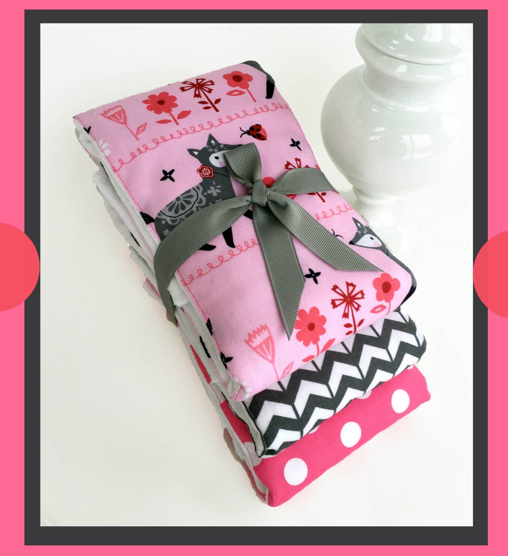 Best Baby Gift Sets : Foxy baby girl gift set burp cloths best shower