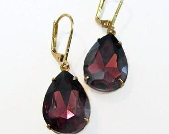 Amethyst Purple Earrings - Classic Jewelry - Jewelry Gift - CAMBRIDGE Amethyst