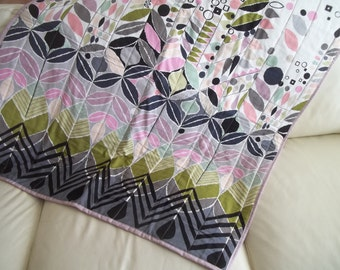 Modern Baby Quilt Lap Quilt Mecca for Moderns