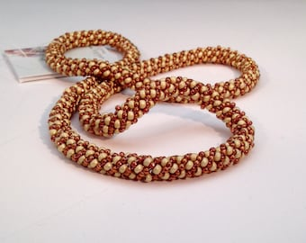 Necklace in the colors of Rich Spices Russian Spiral