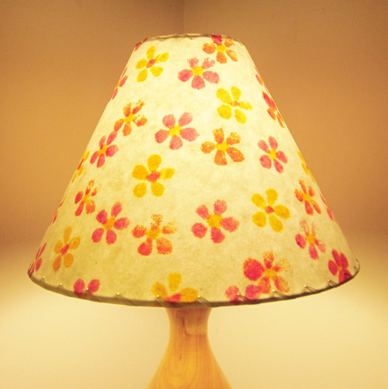 flower power lamp shade handmade paper lamp by. Black Bedroom Furniture Sets. Home Design Ideas