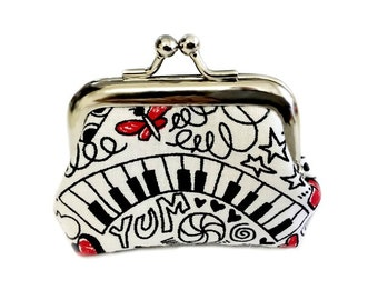 Crazy Scribbles - Tiny Kisslock Metal Frame Coin Purse