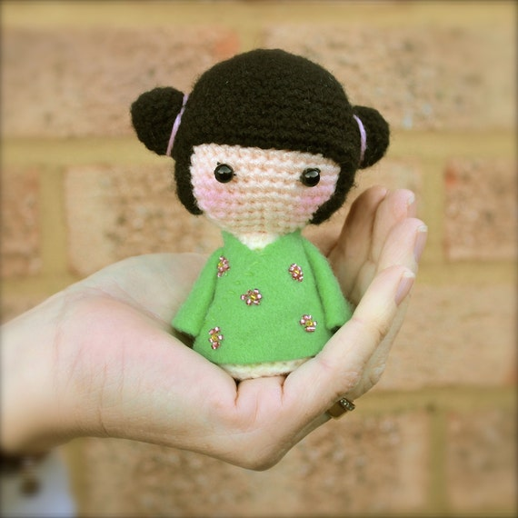 Kokeshi Doll Knitting Pattern : PDF Pattern   Little Kokeshi Doll   An Amigurumi Crochet Pattern   Crochet Do...