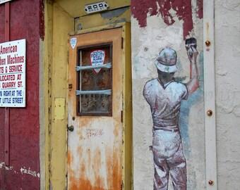 Graffiti Art, Urban Photography, Industrial Art, Philadelphia Art, Street Art, Fine Art Print, Graffiti Wall Art, Urban Art, Whimsical Print