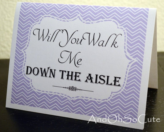 Items Similar To Will You Walk Me Down The Aisle Card Made