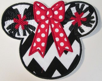 Iron On Applique - College or Professional Team Cheer Mouse