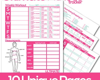 Items similar to Printable P90 Workout Calendar, Planner and Fitness ...
