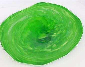 Wall Art Glass Blown Platter 264