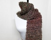 Drop Stitch Knit Scarf in Taupe, Rust, Lavender and Teal Green - Ready To Ship Women's Fringe Long Scarf Girl's Scarf