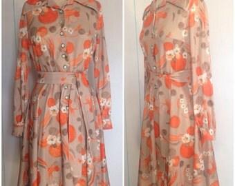 70's Floral Print Dress