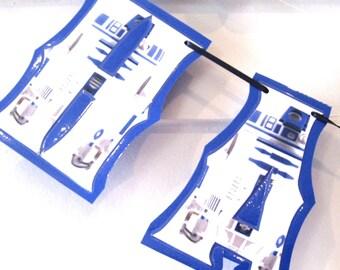 R2D2 HAPPY BiRTHDAY Banner - Star Wars Birthday Banner, Star Wars Birthday Decor - You choose custom characters