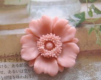32mm - Large Chrysanthemum  Cabochon - 4 pcs (CA833)