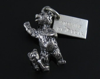 Vintage Bell Trading Post Yellowstone Park Bear & Cub Sterling Silver 3D Charm