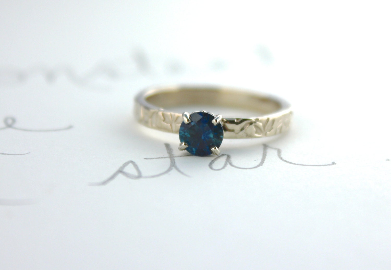 Montana sapphire engagement ring blue sapphire engagement