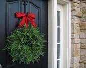XL Fern Wreath, Christmas Fern Wreaths, Greenery Wreath for Year Round, Artificial Greenery, Year Round Wreaths, Holiday Fern Wreath, Wreath