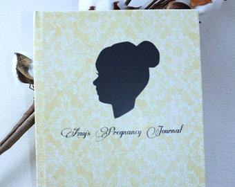 Personalized Silhouette Pregnancy Journal Hardcover