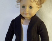 18 inch  Doll Black Slouch Cardigan Sweater