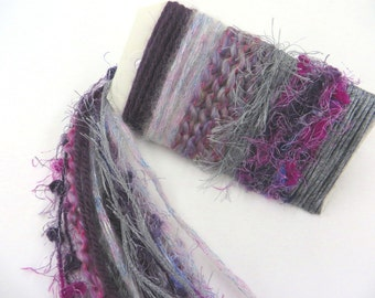 PURPLE HAZE V 2.0 Specialty Yarn Fiber Embellishment Bundle - Altered Arts, Jewelry - 5 or more bundles for 10% discount