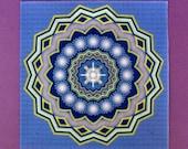 Shower One Healing Mandala Crystal Grid