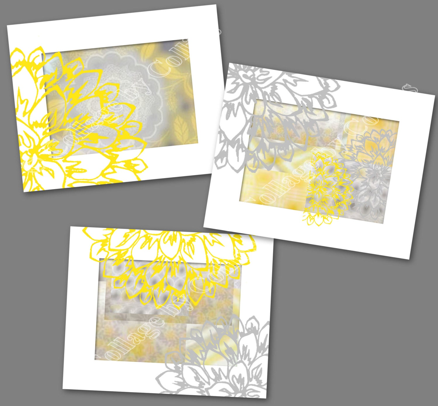 Peonies Peony Flower Gray Golden Yellow Wall Art Picture