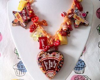 Tootsie Roll Statement Necklace