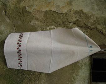 handloomed linen antique charming KITCHEN TOWEL, easter decoration