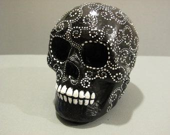 Painted Plaster Skull / Calavera #07