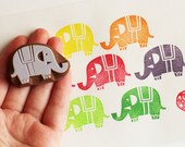 circus baby elephant stamp. animal hand carved rubber stamp. diy baby shower, birthday, christmas card making. gift wrapping. scrapbooking